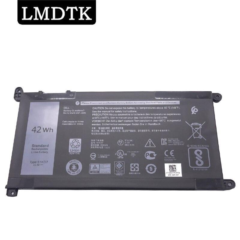 LMDTK جديد 51KD7 بطارية كمبيوتر محمول لديل Chromebook 11 3180 3189 P26T FY8XM Y07HK 11.4V 42WH