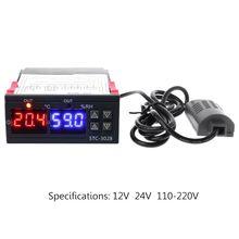 Thermostat numérique température et humidité   Double affichage, 110V 220V cc 12V 24V 10A, régulateur de température et dhumidité