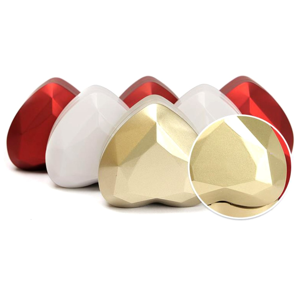 Heart Shape LED Light Ring Holder Box Proposal Wedding Band Display StorageJewelry box velvet heart-shaped ring box jewelry box