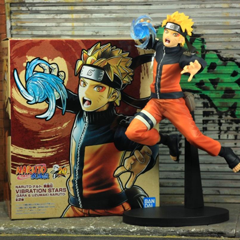 Figura Uchiha Sasuke con vibración de 25CM, figura Uzumaki Naruto Anime Naruto Shippuden, figura de estrellas vibratorias, figura de PVC, modelo de juguete para regalo