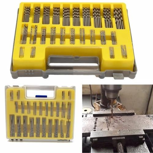 tasp 150pc hss micro pcb drill bit set precision twist drilling kit with storage box 150PC HSS Power Rotary Micro Twist Precision Drill Bit Set Mini Small Tool Kit + Box