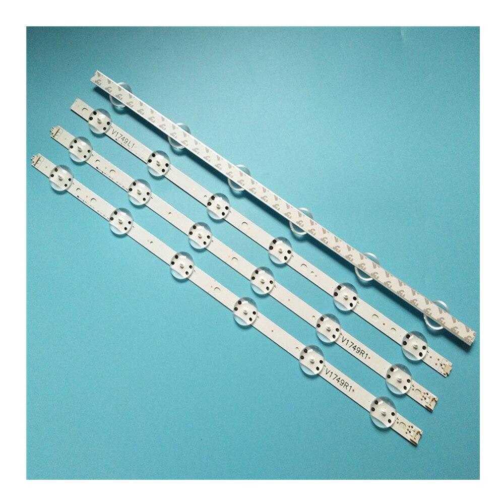 Nuevo Kit 8 Uds tira de luz LED para LG 49UV340C 49UJ6565 49UJ670V V17 49 R1 L1 ART3 2862 2863 6916L-2862A 6916L-2863A