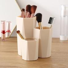 Boîte de rangement de brosse de maquillage   Boîte de rangement de cosmétique de maquillage brosse, organisateur de Table de maquillage vernis à ongles, porte-outils de maquillage, porte-stylo