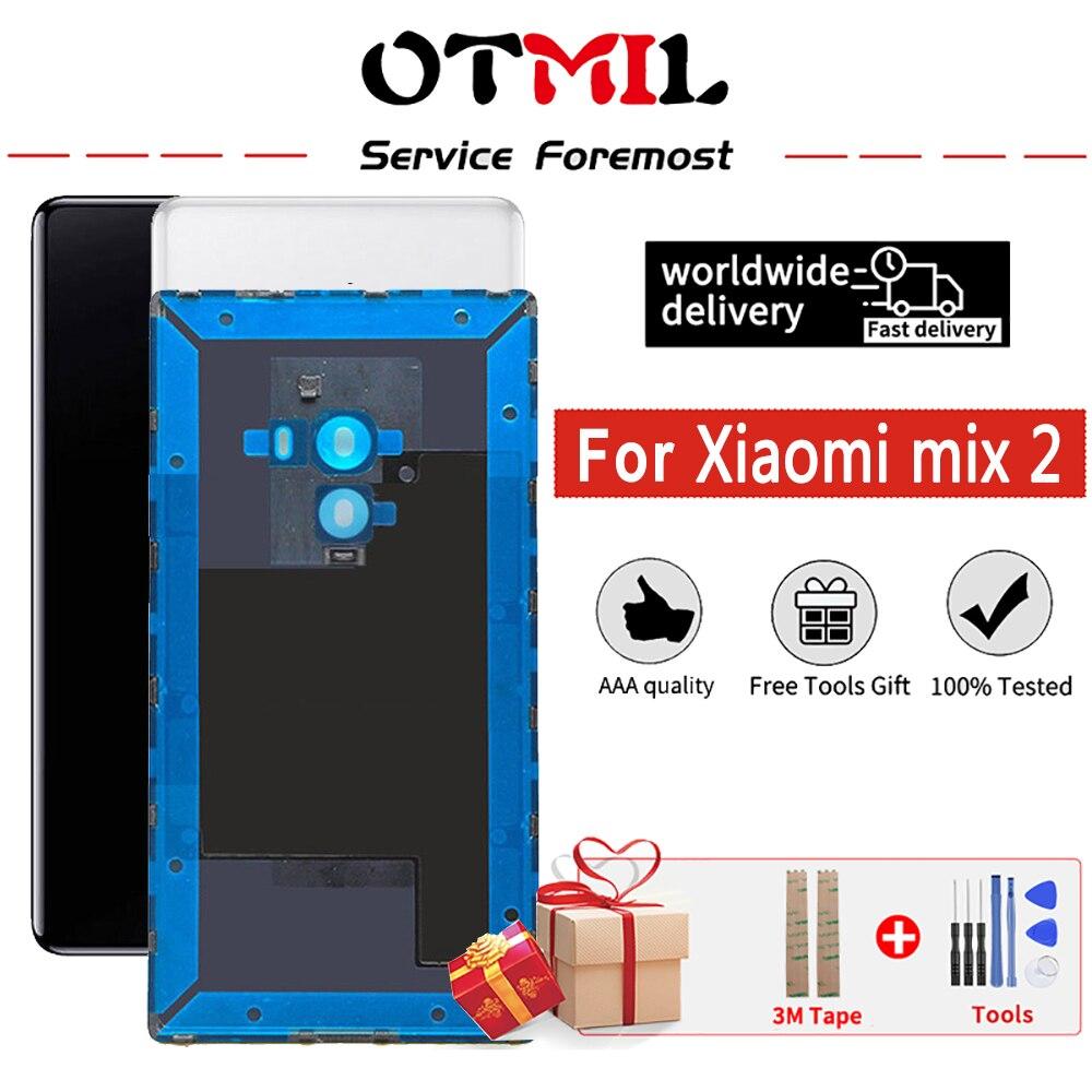 ل مي mix2 الإسكان عودة ل Xiaomi مي مزيج 2 عودة غطاء البطارية حالة ل مي مزيج 2 مع الجانب مفاتيح كاميرا الزجاج بصمة الاستشعار