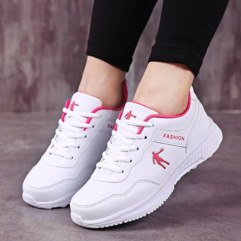 Zapatos Deportivos Para Mujer De Zapatillas Planas De Malla Transpirables Con Cordones......