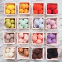 Heißer 2cm Filz Kugeln Runde Pom Poms Wolle Filz Kugeln 8cm Faux Pelz Bommel Ball Bunte DIY Handmade handwerk Zubehör Großhandel