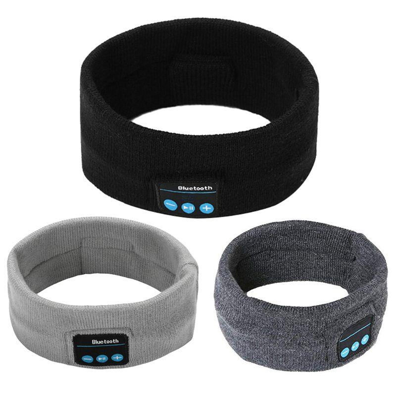 Unisex inalámbrico Bluetooth deportes diadema música teléfono con elástico cinta Altavoz manos libres Bandana tejida