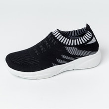 New Women Sneakers Platform Vulcanized Shoes Sock Sneakers Casual Shoes Women'S Shoes Summer Slip On Flat Shoes Women Loafers