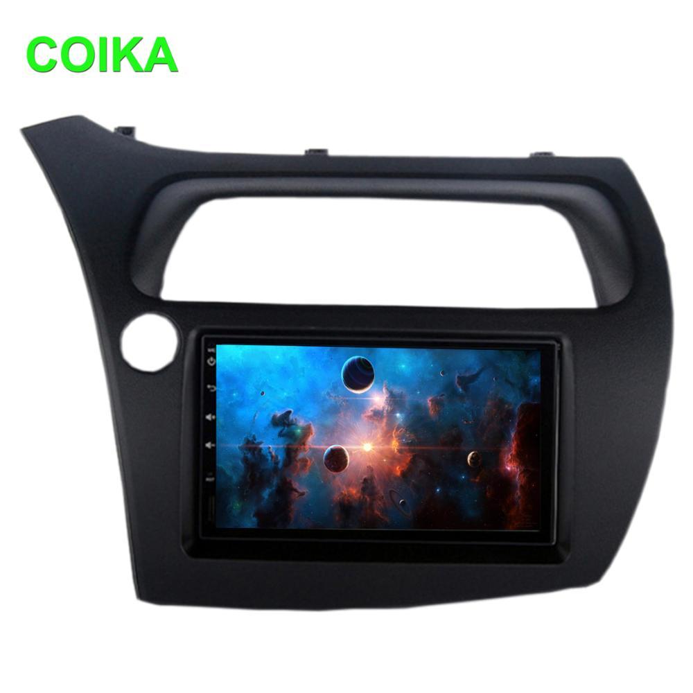 "Octa Core 7 ""Android 9,0 Sistema de pantalla táctil del coche estéreo para Honda Civic Hatchback 2006-2012 GPS WIFI SWC DVR BT DSP 4 + 64G RAM"