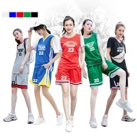 women basketball jerseys shorts sets sports clothing top customized logo name number girls college basketball training suits