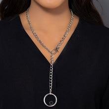 KMVEXO-collier en pendentif en forme de cœur, rond, Hip Hop, grand ras du cou, chaîne épaisse, bijoux pour femmes, 2020