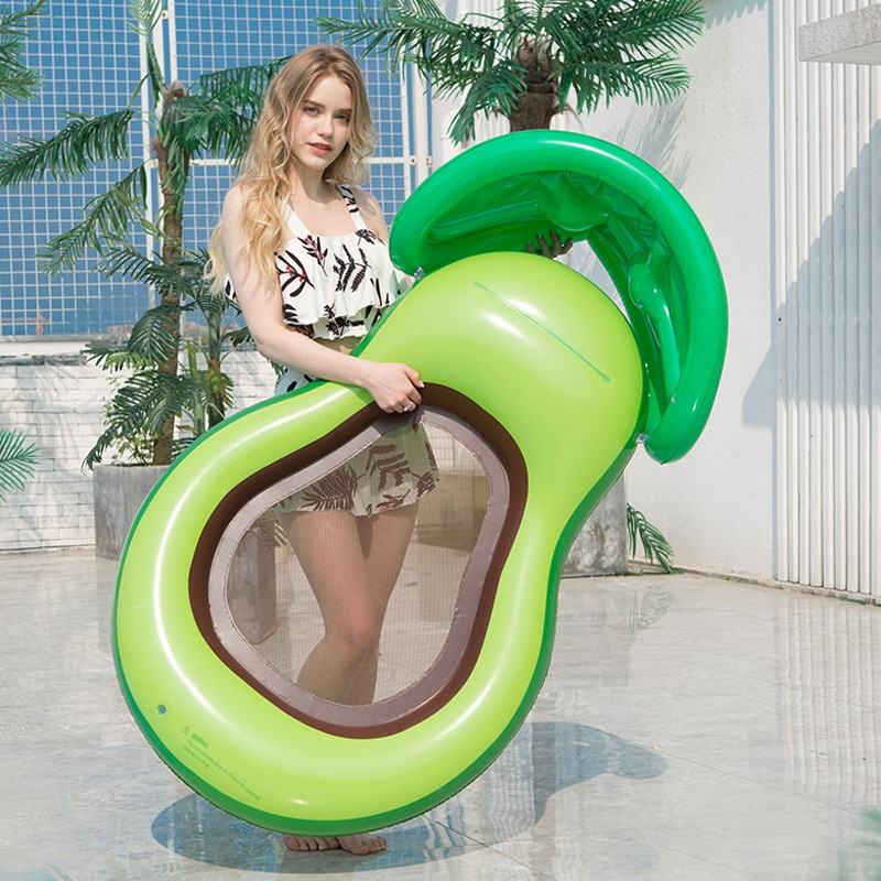 Swimming Pool Floating Mattress Giant  Inflatable Avocado Bed Toy Adult Summer Water Festival Party