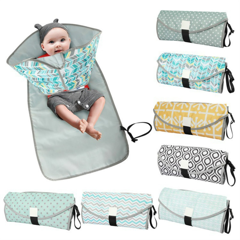 0-3 years old diaper changing mat waterproof urine pad new born baby items polyester fold convenient infant nursing change table