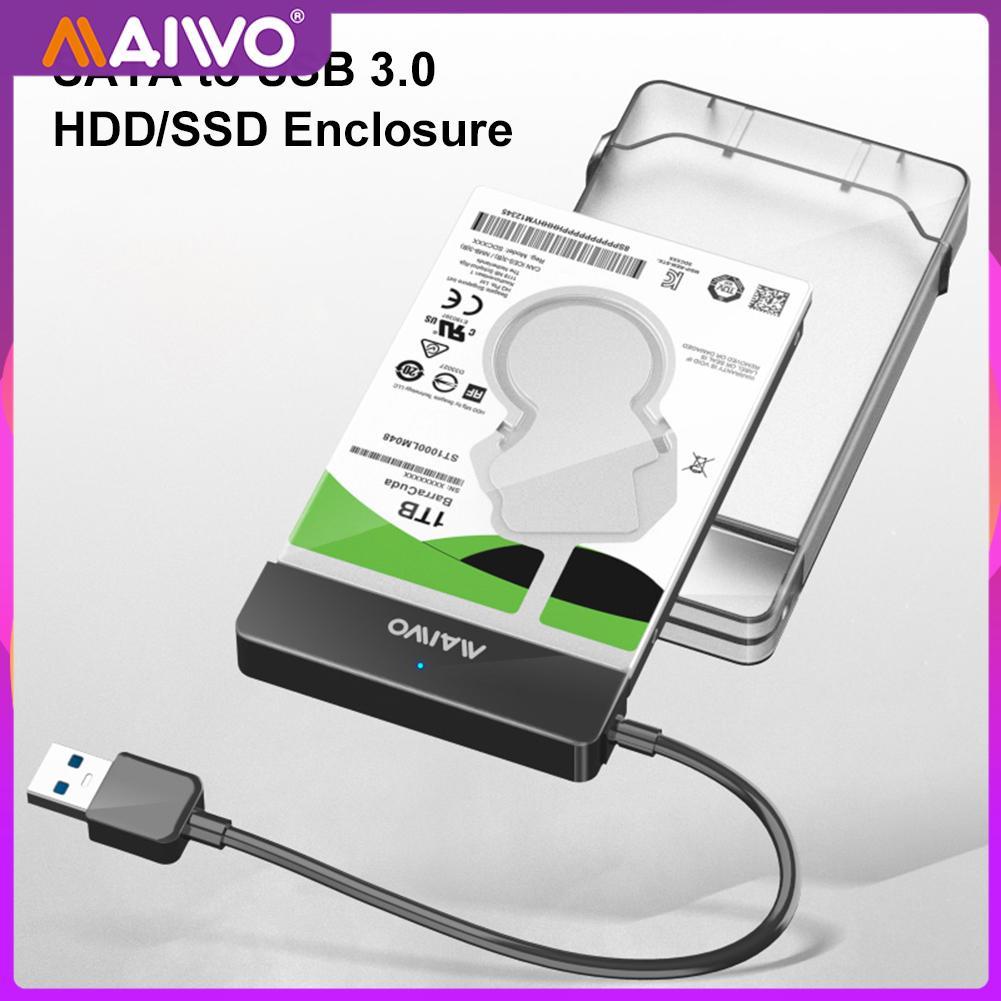 Фото - MAIWO K104 2.5 inch Hard Drive Enclosure USB 3.0 to SATA III II Adapter External SSD HDD Case UASP for Laptop Desktop PC mantistek mbox2 5 usb 3 0 sata iii hdd ssd hard drive enclosure 2 5 tool free hard drive external case support uasp windows 10