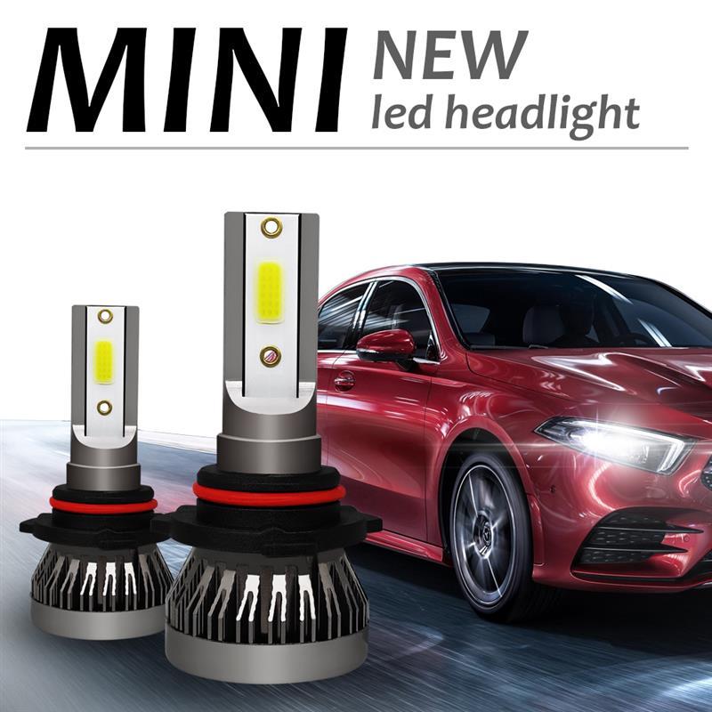 2 piezas 36W 6000LM 6000k coche faro Mini lámpara COB bombillas faros Kit 12V LED lámpara niebla lámpara COB Super brillante Auto lámparas LED