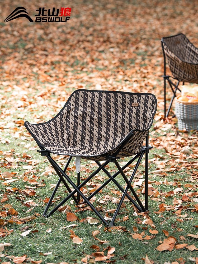 Outdoor Folding Chair Portable Household Moon Chair Beach Chair Bench Camping Chair Fishing Stool enlarge