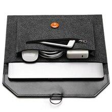 Mode ordinateur portable sac laine feutre portable ordinateur portable étui de protection 11 12 13 14 15 15.6 pouces housse housse PC tablette pour Dell HP
