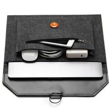 Moda saco do portátil de lã sentiu portátil portátil caso protetor 11 12 13 14 15 15.6 polegada manga capa caso pc tablet para dell hp