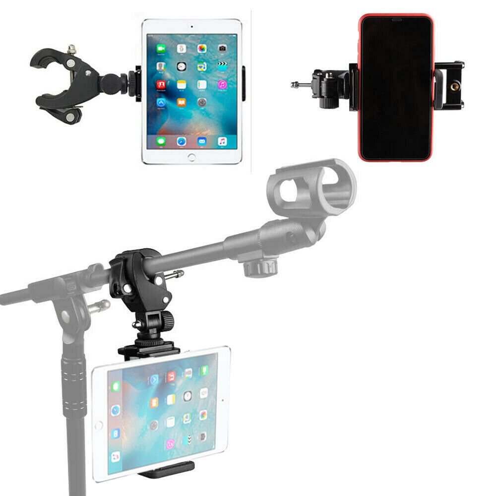 Universal Secure Music Microphone Mic Stand Holder Mount Clip & Guitar Picks Holder for Microphone Stand enlarge