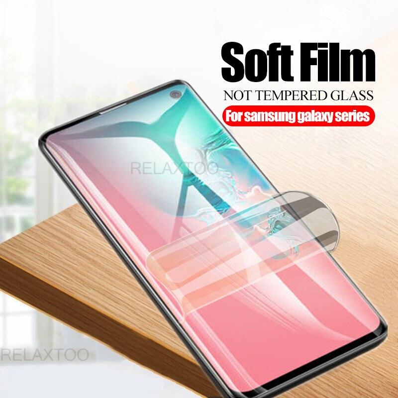 Película TPU curvada completa 3D para samsung galaxy note 10 pro s10 5G S8 S9 Plus s 8 9, película protectora suave, protector de pantalla no de cristal