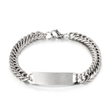 1pc Link Chain Bracelets Mens Womens Bracelets Silver Wristband Bangle Punk Jewelry For Men Stainles