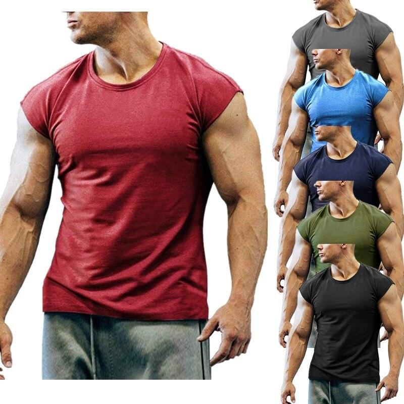 Camiseta ajustada de cuello redondo para hombre, camisetas de manga corta con cremallera de verano de Hip Hop
