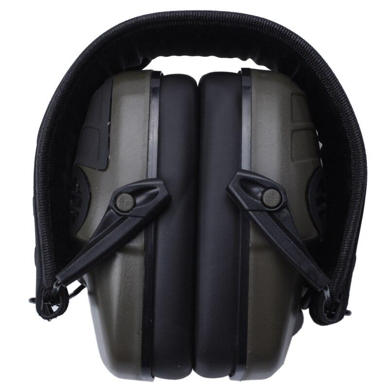 سماعات أذن إلكترونية NRR 25DB حماية إلكترونيات الصيد يفشل الأذن (أخضر زيتوني)