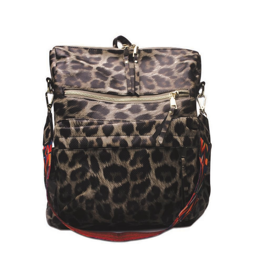 33*15*36cm Cheetah PU mochila gran capacidad leopardo PU Bolsa Escolar regalo libro bolsa DOM1061404
