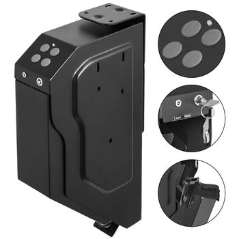 VEVOR Handgun Fingerprint or Digital Keypad Lock Pistol Gun  Weapons Security Deposit  Storage Box Voult Under a Table