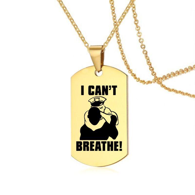 POFUNUO American Protest I Cant Breath colgante collares oro Acero inoxidable etiqueta collar 8 estilos disponibles George Floyd