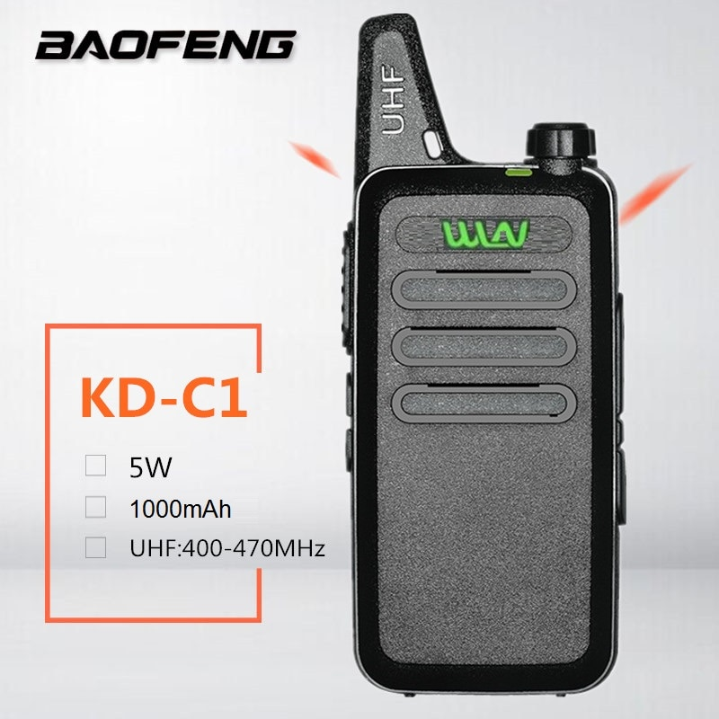 Ganar KD-C1 niños Mini Walkie Talkie jamón estación de Radio CB UHF 400-470MHz transceptor móvil cargador USB Woki Toki ganar kd-c1 bf t1