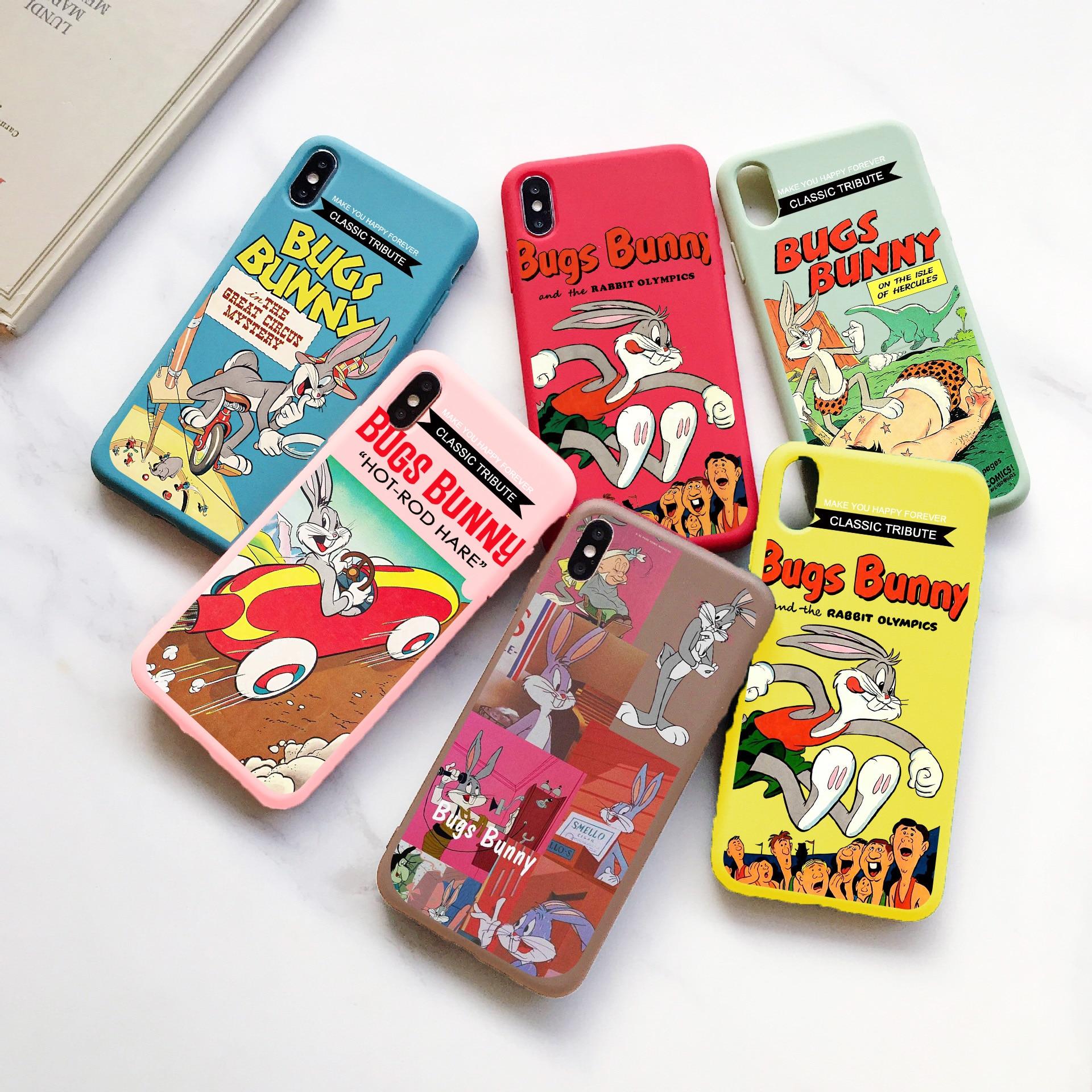 Funda de silicona con dibujos animados para iPhone, protector de TPU con...