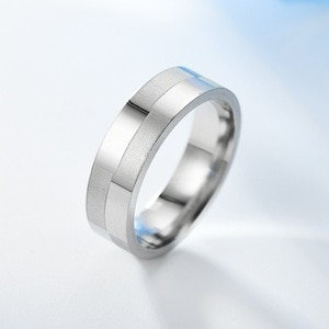 BG-146 Stainless steel simple ring creative geometric titanium steel men's new ring couple ring jewelry
