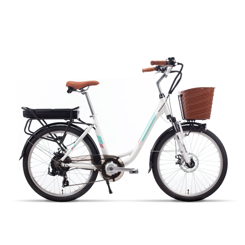 24 inch electric bicycle lithium battery booster adult battery ebike men and women small city electric bicycle