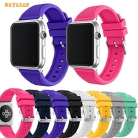 pineapple style soft slicone watchband for apple watch 38mm 40mm 42mm 44mm smartwatch replacement strap sport belt bracelet
