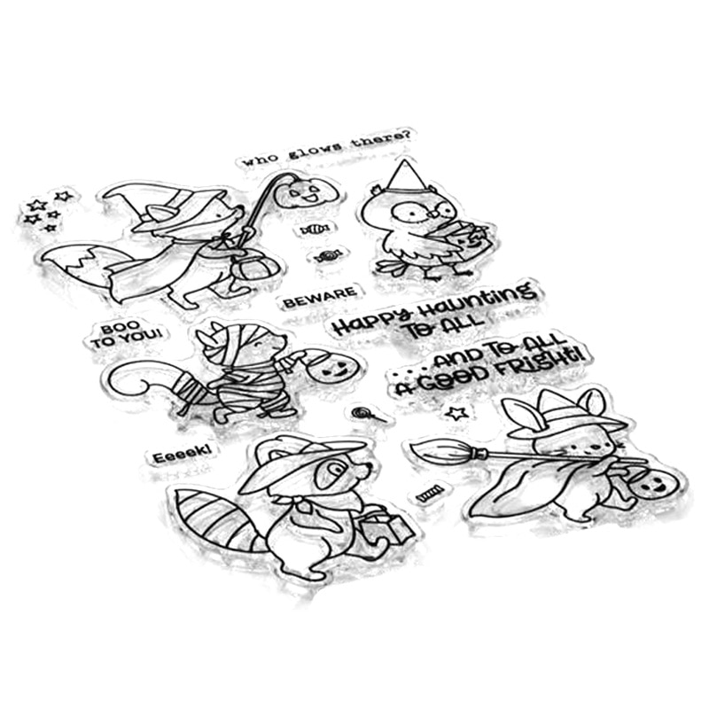 2021 New Halloween Pumpkin Animal Fox Clear Stamps and Metal Cutting Dies Sets For DIY Craft Making Greeting Card Scrapbooking
