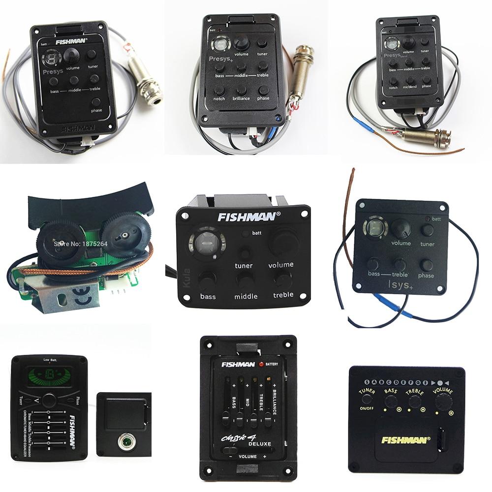 9 أنواع من آلات بيك آب للجيتار من Fishman طراز Presys Mic mix PlusPreamp EQ موالف بيزو بيك اب نظام المعادل التقاطات الصوتية للجيتار