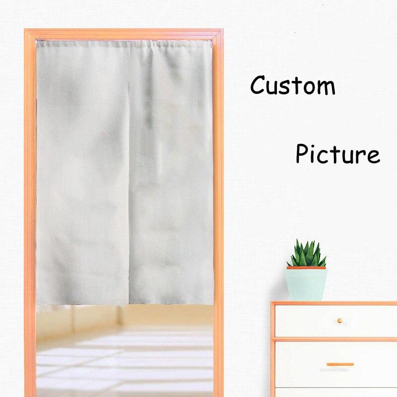 صورة مخصصة تصميم ستارة الباب غرفة نوم المنزل المطبخ الديكور البوليستر نصف الستائر