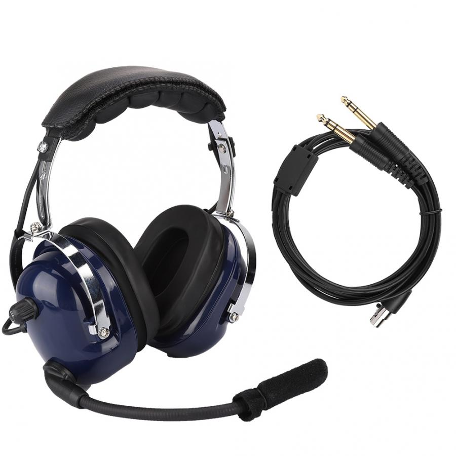 Auriculares auriculares de aviación General piloto de doble enchufe auriculares de reducción de ruido de 3,5mm para pilotos auriculares fone de ouvido