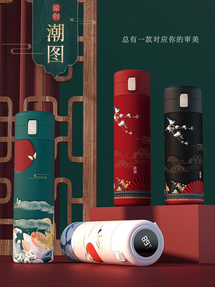 زجاجات مياه فراغ السائبة فراغ قوارير الفولاذ الإبداعي المقاوم للصدأ بهلوان صديقة للبيئة Bouteille Isotherme كأس قابلة لإعادة الاستخدام BD50TT