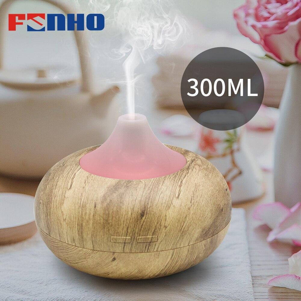 FUNHO 400ml humidificador de aire USB difusor de Aroma de aceite esencial lámpara aromaterapia fabricante de niebla eléctrica para la oficina en casa luz LED