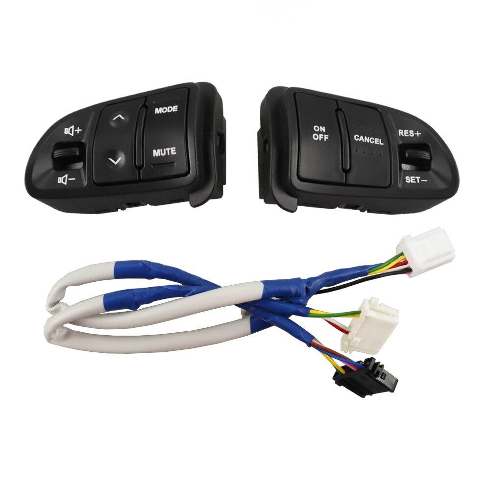 Para KIA Sportager Botón de volante velocidad constante Control de crucero botones multifunción canal volumen Audio interruptor para coche