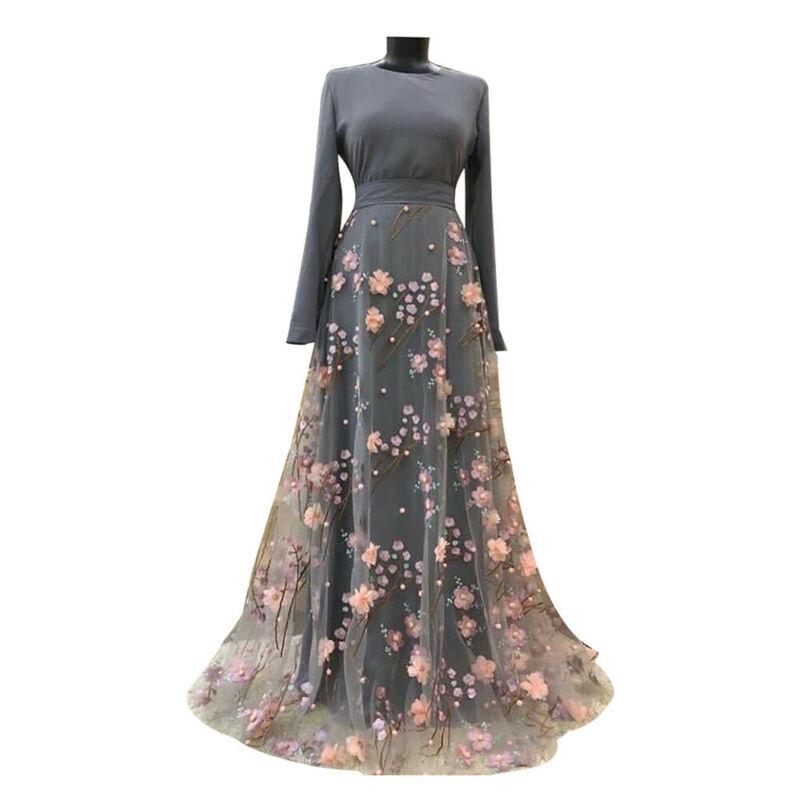 Abaya-vestido musulmán de manga larga para mujer, Abayas musulmán a la moda,...
