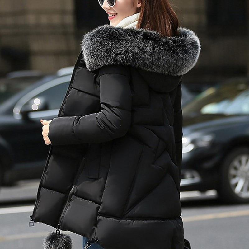 Nuevo Otoño Invierno de algodón mujeres Abrigo largo grueso de talla grande...