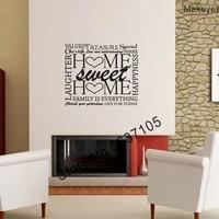 Makeyes-autocollants muraux en vinyle  doux pour la maison  mots Q260