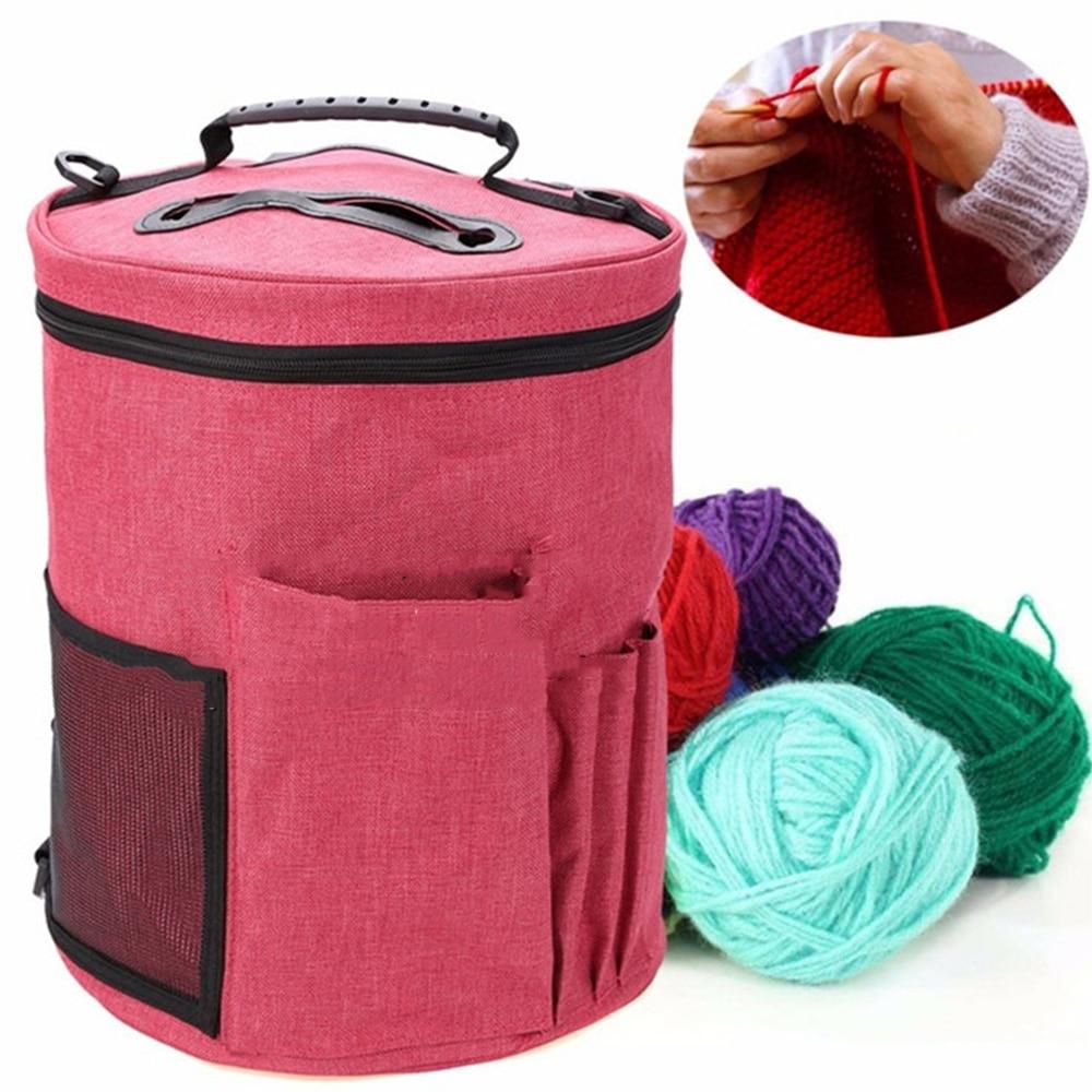 Knitting Needles Sewing Set DIY Storage Bag DIY Organizer Holder Wool Crochet Hooks Crochet Hooks Thread Yarn Storage Bag