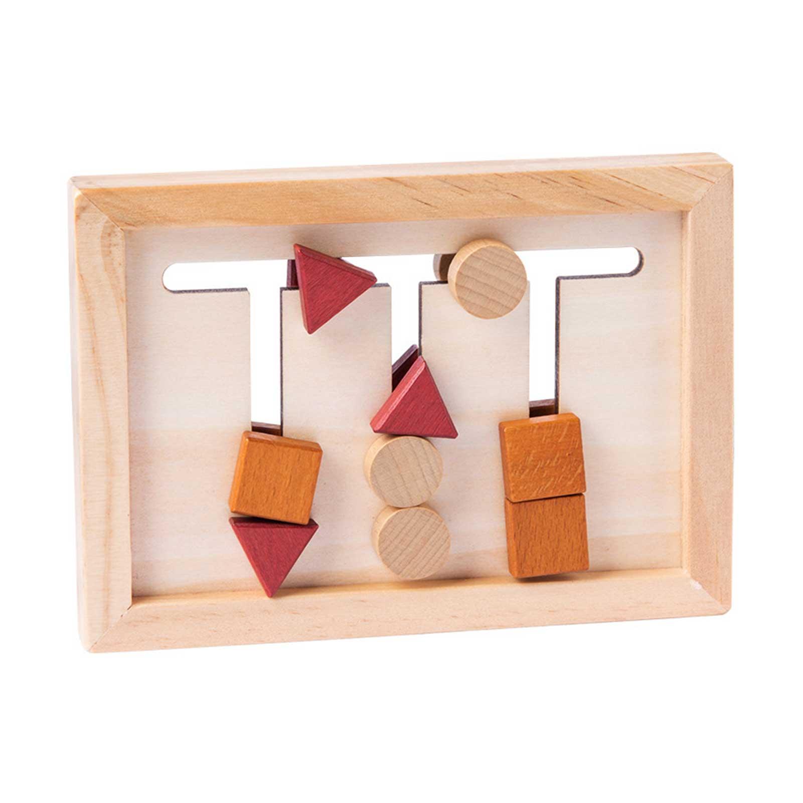 Детские обучающие игрушки Монтессори, подходящие формы деревянные игрушки для детей, деревянные Обучающие Игрушки для раннего развития до...