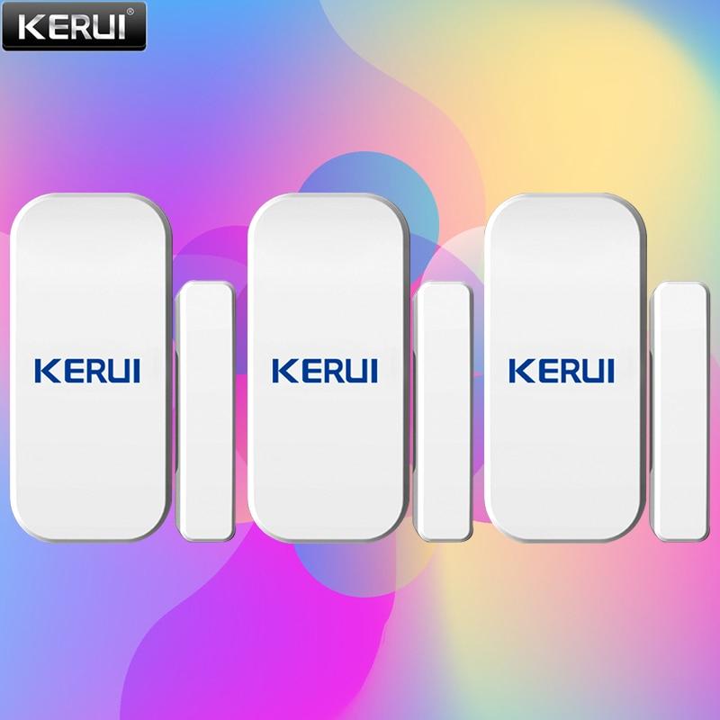 KERUI 3 개/몫 무선 자기 도어 센서 감지기 433Mhz 도어 알람 홈 알람 시스템 도어 센서 Alarme De Porte
