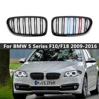 a pair abs car styling dual slat front bumper grill grille for bmw f10f11f18 528i 530i 535i 2009 2016 auto accessories