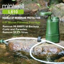 Miniwell Wasser Reinigung mini Pumpe, Rucksack Wasser Filter Purifier für Wandern, Camping, Angeln, Reisen